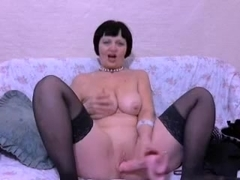 Crazy Homemade clip with Stockings, Webcam scenes