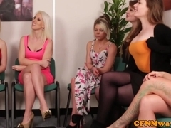 cfnm cum match with girlfriends