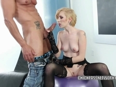 Slutty coed Maia Davis is getting pounded by an older guy