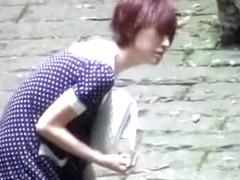 Whimsical short-haired hoe making loud sounds during wild sharking scene