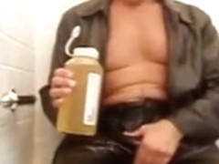 Make Water and Cum in Leather & Boots