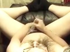 Pierced cock, Upside down Masterbation