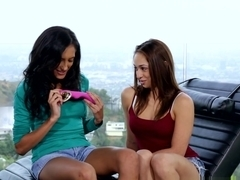 Crazy pornstars Sara Luvv, Chloe Amour, Beverly Hills in Horny Latina, Cunnilingus adult video