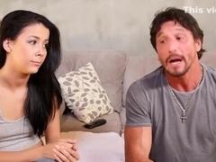 Amazing pornstar Alex Tanner in crazy brunette, blowjob adult clip