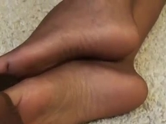 Whore.s feet look delicious in stockings