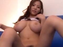 Horny Japanese girl Ruri Saijou in Incredible Big Tits, POV JAV movie