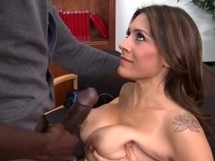 Milf with big boobs Raylene fucking black cock at school