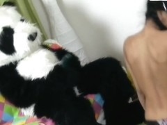 Lerok is nicely fucked by a costumed panda