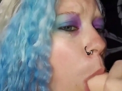 THOT STUFFING HER MOUTH WITH DICKS