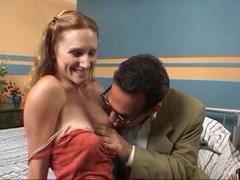 Golden-Haired honey constricted pink twat gangbanged