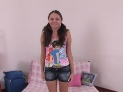 Flicks of sexy teen with her snatch drilled