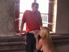 Juvenile german dilettante pair oral pleasure in a old factory