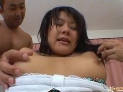 Horny girl called Tsumiki Shinodo sucks cock gets fucked with a condom.