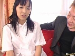 Mami kato blows cock like a champ and gets a creampie.