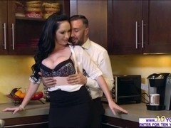 Bella gets fucked by her office fuck buddy while on a conference call