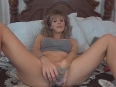 Emy Banx sucks and fucks after playing with her toys