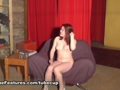 Exotic girl showing her chubby body at the CASTING
