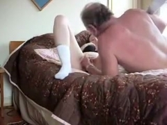 Previous guy pumps her pussy hard