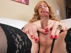 Bodacious Kacy Strokes On The Couch - TGirl40