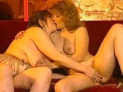 Plumper with big tits plays with girl