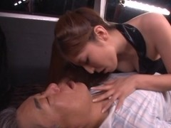 Yuna Shiina hot Asian milf is in the car for some kinky sex