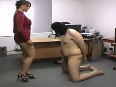 Ballbusting in Office