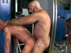 Gay fun in the locker room