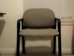 Awesome masturbation in the chair