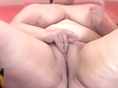 Voluptuous and Sexy BBW Milf with Huge Tits on Webcam Strips, Masturbates, and Watches Me Cum on C.