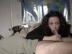 Sexy assed wife gives BJ and rides cock