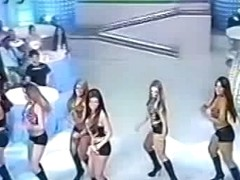 Upskirt video of insanely hot dancing beauties on TV