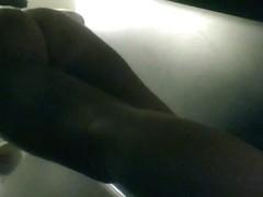 Shower room hidden cam features nude girl dressing up
