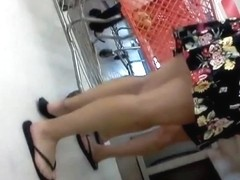 sexy legs skirt down