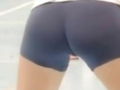 Tight Ass College Teen Volleyball Shorts
