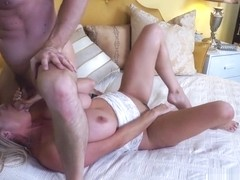KELLY MADISON - Bouncing Huge Naturals And Swallowing Cum
