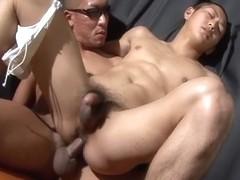 Homosexual twinks masturbate