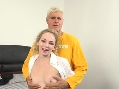 Exotic pornstar Angel Smalls in Crazy College, Blonde porn video