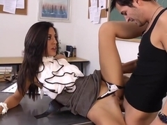 Sexy teacher is turned on by his appreciation