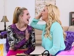 Hottest pornstars in Crazy Lesbian, College porn clip