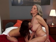 Fabulous pornstar in Horny Grannies, Cunnilingus porn scene