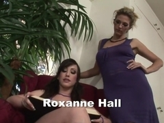 Fabulous pornstars Roxanne Hall and Jennifer White in best lesbian, brazilian sex scene