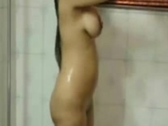 Indian Cutie Taking a Bathroom