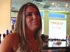 Hot girl is pleasing her drunk husband