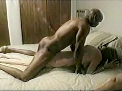 Awesome cuckold-hubby,wife and dark fellow
