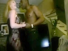 Blond wife in darksome bodystockings banged by darksome stud-horses