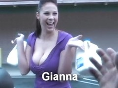 Fabulous pornstar Gianna Michaels in amazing facial, brunette porn movie