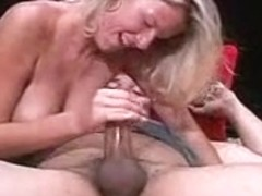 Stroked and blowed to sex cream