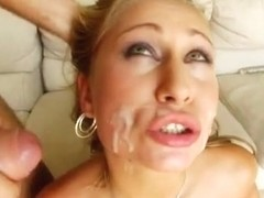 Cute Sabrina gets her tight butt hole penetrated in many ways.