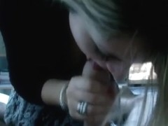 Her first oral-stimulation-job on tape