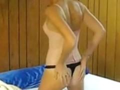 Amateur girlfriend in thong